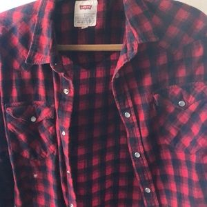 Levi's L plaid shirt